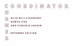Coordinator Corner: September 2020