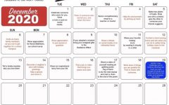 Westside's B.I.O.N.I.C. Club created a calendar outlining acts of kindness over a time period of three weeks.