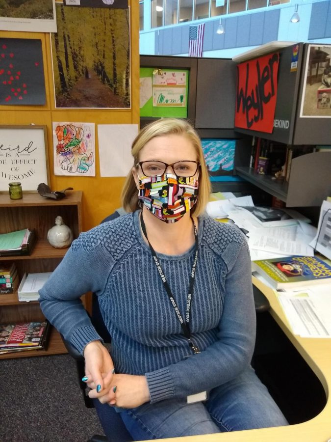 """""""It was a little much. I felt like I was ignoring either my online students or my in person students. And as anyone knows, any time that you feel like your kids aren't active in class, you feel like [you are] wasting their time. We don't have a lot of time with them anyway, so it was frustrating,"""" English instructor Charlotte Weyler"""