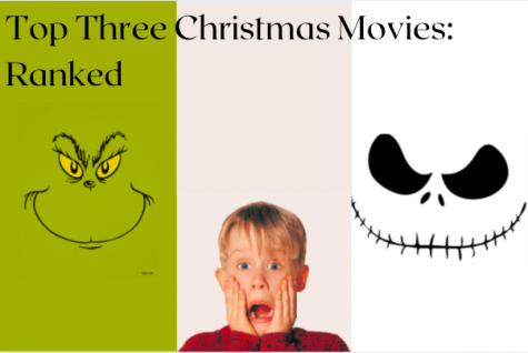 Top three Christmas movies; The Grinch, Home Alone, and The Nightmare Before Christmas: ranked.
