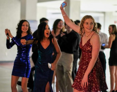 Current sophomores (left to right) Rose Padios, Majesty Marti-Lester and Gina Gage enjoy last years Winter Formal dance.