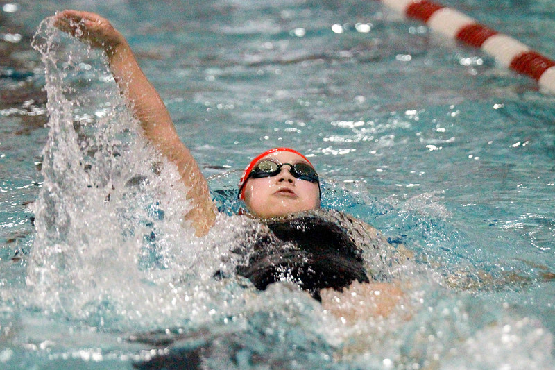 Swimmer Syndey Fuehringer Rolles competed in the 400 Relay at the Class A State Tournament Photo -Mary Nilius