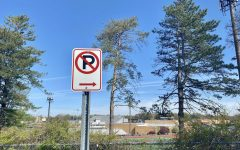 No-parking signs are placed around Westside's parking lots to avoid students parking illegally.