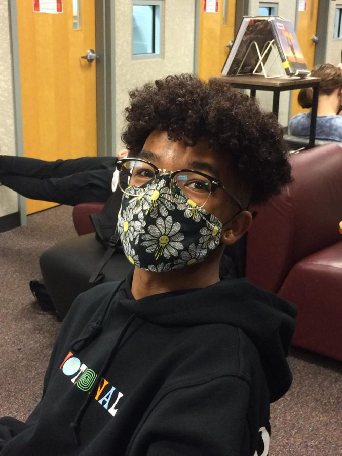 """""""Well, when I walk up the stairs I'm already basically breathing for my life because [of]  the mask. If there [are] double masks, I can't breathe. I'm going to die. I'm going to fall back down them steps,"""" junior Zach Laroda"""