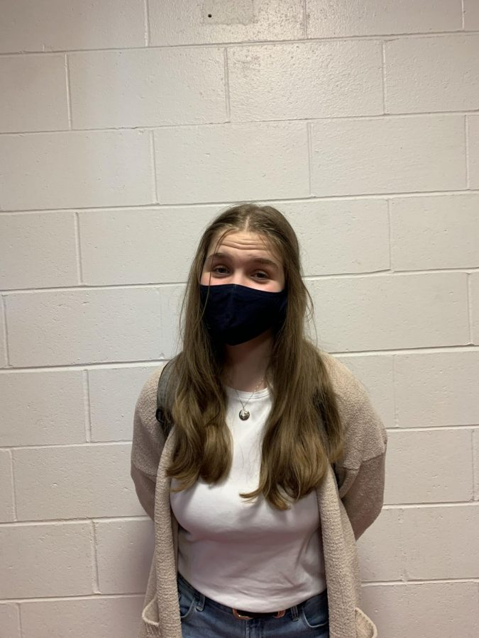 """""""I think it's probably necessary, but it could also be a risk for people with breathing problems. There would be so much material on your face that it would be even harder to breathe,"""" freshman Theresa Bochnicek"""