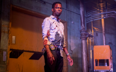 Detective Banks (Rock) arriving at what is his final test in the game of saw.