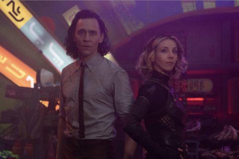 Loki (Hiddleston) and Sylvie (Martino) on Lamentis-1.