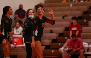 Destiny Ndam-Simpson as a sophomore had the third most kills in the state - Photo by Mary Nilius