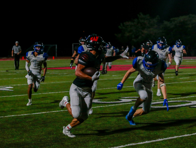 Dominic after the historic night ranked in the eight among rushing in Class A and is now is responsible for the sixth most points in Class A - Photo by Zoe Gillespie