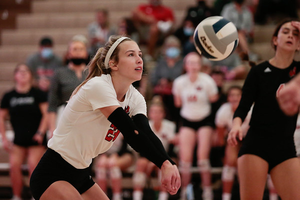 Outside Hitter Samantha Laird has had a huge presence with 255 kills this season. The junior also has 285 digs on the season. Warriors are hot at the perfect time - Photo by Mary Nilius