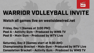 Watch all of the Warrior Invite action throughout the weekend on our website. Quick updates can be found on our twitter @westsidewired